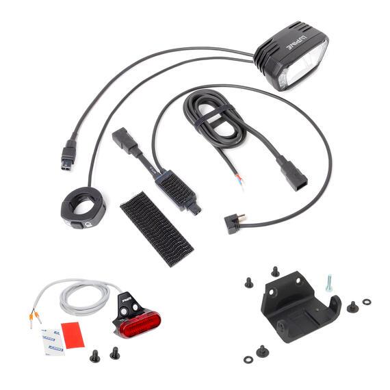 Lupine SL X für Smart Gripper mit Apple Lightning USB Weiche plus Red Spot Rücklicht